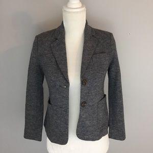 Cartonnier Anthropologie Gray Wool Blend Blazer